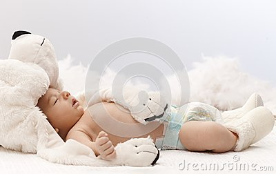 sleeping-baby-bear-newborn-big-hat-37517989